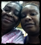 Mommy and I at Union Station waiting for her to go back to SC